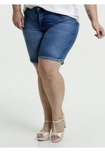 Bermuda Feminina Jeans Cintura Média Biotipo