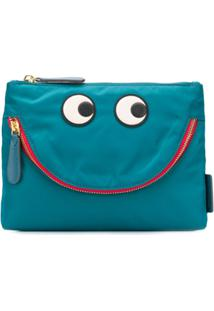 Anya Hindmarch Bolsa Carteira Happy Eyes - Azul