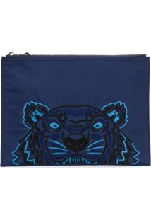Kenzo Bolsa Clutch 'Tigre' - Azul
