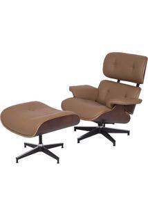 Poltrona Charles Eames Com Puff- Caramelo & Marrom Escuror Design