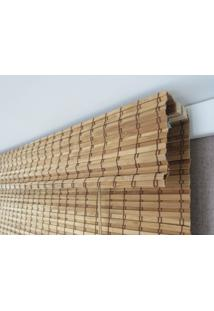 Persiana Romana Bambu Block 1,60Larg X 1,60Alt Natural