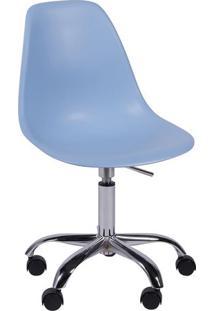 Cadeira Eames Dkr- Azul Claro & Prateada- 93X47X41Cmor Design