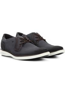 Sapato Social Couro Pegada Masculino - Masculino-Azul Escuro
