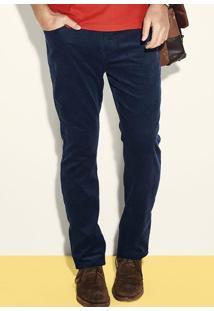 Calça Masculina Com Modelagem Tradicional Em Veludo