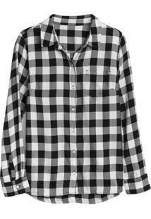 Camisa Gap Xadrez Preta/Branca