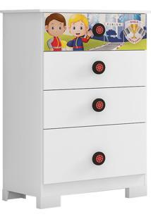 Cômoda Super Power S/ Porta Branco Móveis Estrela