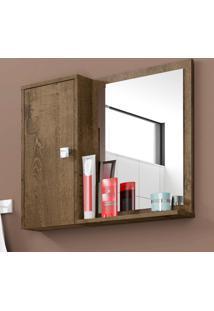 Armário De Banheiro 1 Porta Gênova Madeira Rústica - Bechara Móveis