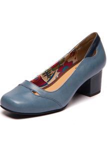Sapato Mzq Azul Riverside / Passiflora - Brenda Lee 7314