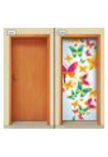 Adesivo Decorativo De Porta - Borboletas - 1451Cnpt