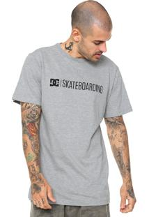 Camiseta Dc Shoes Skateboarding Tall Fit Cinza