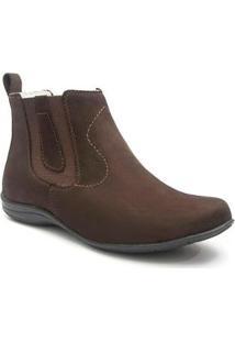 Bota Roed Shoes Botina Casual Feminina - Feminino-Café