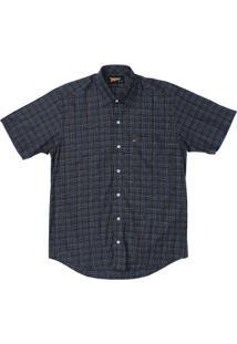 Camisa Manga Curta Fast Back Masculina - Masculino-Preto