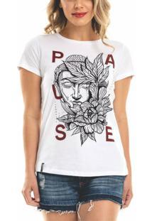 T-Shirt Nogah Pause Branca - Kanui