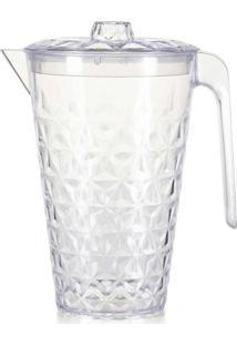 Jarra De Plástico Cristal Com Tampa Plasvale Transparente 2L