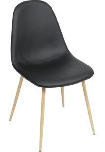 Cadeira Charla- Preta & Madeira- 87X45X40Cm- Or Or Design
