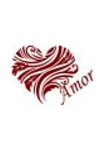Adesivo De Parede - Coração Floral, Amor - 002Rm-G