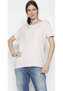 Blusa Em Flamê Com Amarração - Rosa Clarolevis