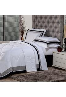 Edredom Queen Soft Comfort Poliéster Branco
