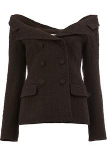 Faith Connexion Off The Shoulder Tweed Jacket - Preto