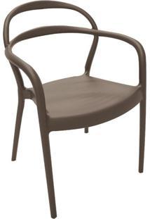 Cadeira Sissi Com Braço Marrom