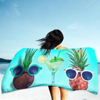 a30871559b Toalha De Praia   Banho Two Hipster Fruits In Trendy Sunglasses