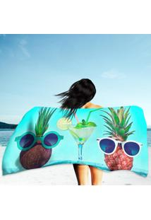 Toalha De Praia / Banho Two Hipster Fruits In Trendy Sunglasses