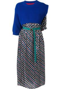 Kolor Vestido Com Recortes E Estampa - Estampado