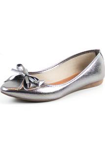 Sapatilha Tag Shoes Metalizada Prata - Prata - Feminino - Dafiti