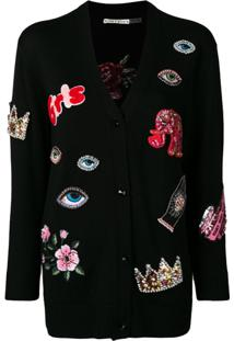 Alice+Olivia Multi-Patch Cardigan - Preto