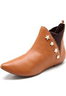 Bota Chelsea Fiveblu Estrelas Caramelo