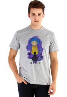 Camiseta Ouroboros Coraline Cinza