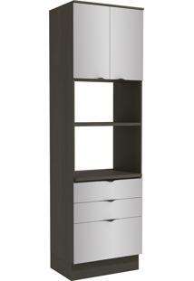 Paneleiro Para Forno Kappesberg Nox 2 Portas 3 Gavetas Onix/Steel