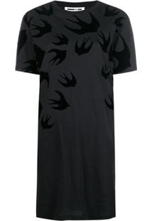 Mcq Alexander Mcqueen Vestido T-Shirt - Preto
