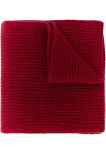 N.Peal Cachecol Canelado De Cashmere - Vermelho