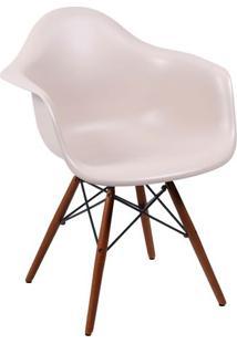 Poltrona Eames Dar- Fendi & Madeira Escura- 82X62X44Or Design