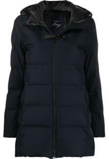 Fay Hooded Padded Jacket - Azul