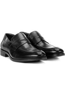Sapato Conforto Couro Ferracini Defender - Masculino-Preto