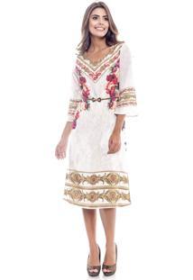Vestido Longuete Maria Amaral Renascença Off-White