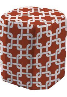 Puff Sit Estampa Rolls Vermelho 43 Cm (Alt) - 50753 - Sun House