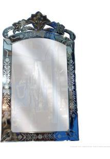 Espelho Decorativo Indiano 1040 Prata - Antonio E Filhos
