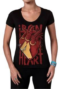 Camiseta Feminina Ironheart Geek10 - Preto