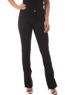 2a30d2187 ... Calça Jeans Denuncia Boot Cut Low Feminina - Feminino-Azul