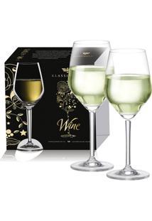 Conjunto De Taças Elegance Para Vinho Branco 2 Peças - Ruvolo