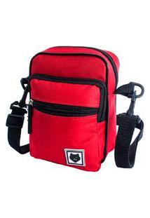 Shoulder Bag Bezz Mini Bolsa Tira Colo Necessaire Pochete Unisexx Vermelho