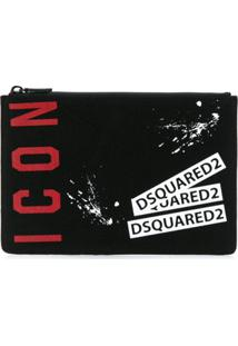 Dsquared2 Black Icon Clutch - Preto