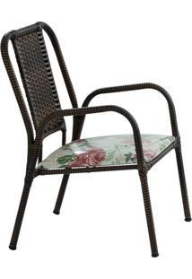 Cadeira De Jardim Amora Marrom