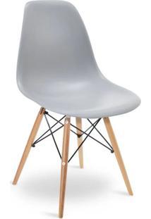 Cadeira Eames Dkr Wood Cinza - Cinza - Dafiti