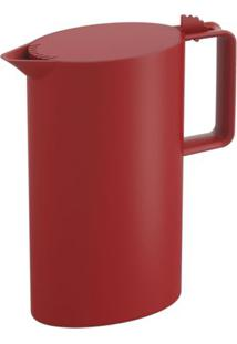 Jarra De Plástico Com Tampa Coza Cozy Vermelha 1,8L