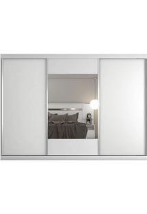 Guarda-Roupa Milano - 3 Portas - Com Espelho - 100% Mdf - Branco Acetinado