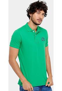 Camisa Polo Rock & Soda Piquet Bordado Contraste 22377 - Masculino